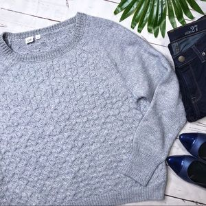 {Gap} sz L oversized wool blend cable knit sweater